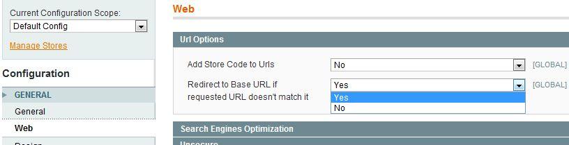 URL option
